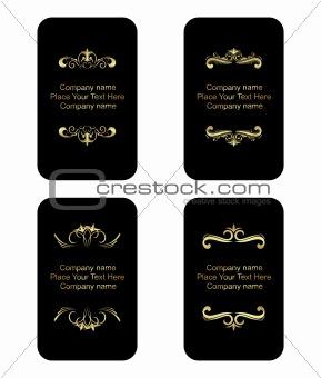 Business cards templates set