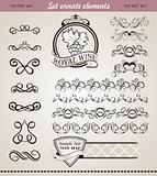 set floral ornate design elements (4)