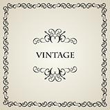 Illustration vintage background card for design