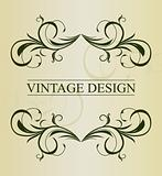 Vintage background card for design - vector