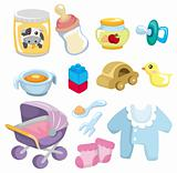 cartoon baby goods  icon