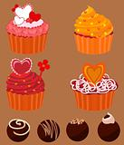 Cupcakes and chocolate Sweets