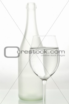 abstract glass and bottle