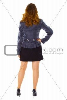 Business young woman - rear view