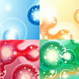 abstract background green blue red orange 10 eps