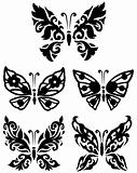 Silhouette butterfly collection