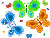 Decorative butterfly collection