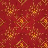 Renaissance Seamless Pattern Vector with tulips