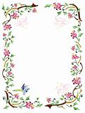 Floral frame with natural pattern