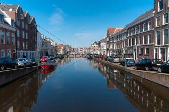 canal in Leiden, Netherlands
