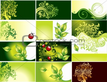 Business card with foliage