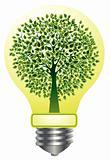 Lightbulb with tree
