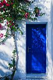 Blue door in greece