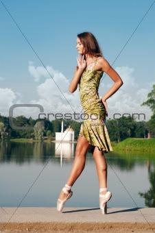 dancing at the lake