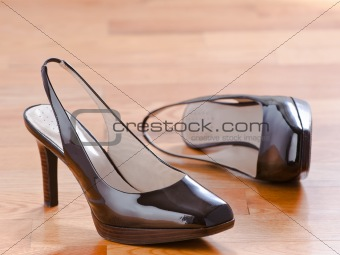 Classic patent leather shoes
