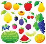 Fruit set without outlines