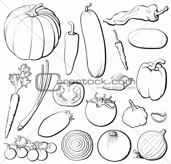 Color the fruits and vegetables worksheet twisty noodle - Healthy Food Outline Submited Images