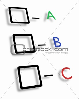 ABC check boxes