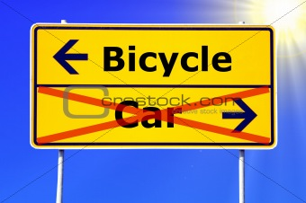 car or bicycle