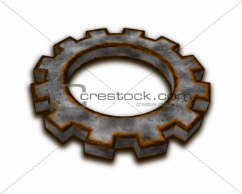 rusty gear wheel