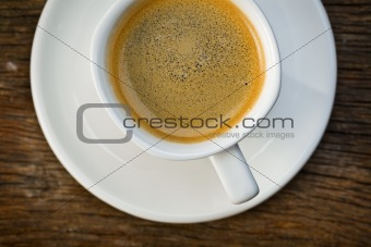 top view of cup of espresso