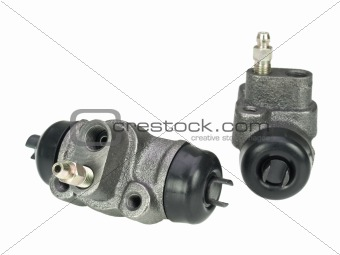 Brake cylinder isolated on white background