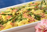Green Asparagus-Ham-Macaroni Casserole