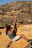 Extreme climbing girl