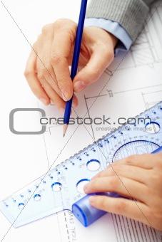 Sketching man