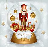 Snow globe with Nutcracker