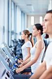 On treadmills