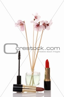 cosmetics, parfume and flower