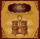 Retro design cover menu