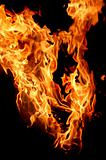 Fire flame for background