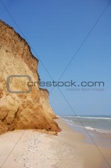 Black Sea beach near Odessa, Ukraine.