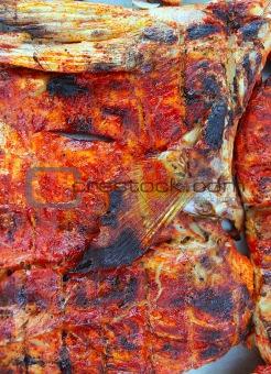 grilled amberjack fish achiote tikinchick Mayan sauce
