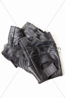 Old sporting gloves isolated