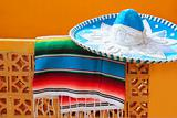 charro mariachi blue mexican hat serape poncho