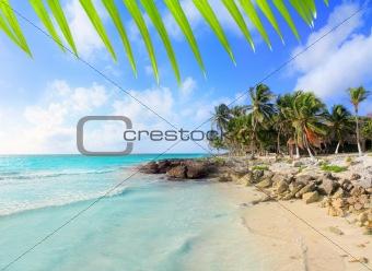 Caribbean Tulum Mexico tropical turquoise beach