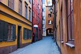 Narrow street in Gamla Stan, Stockholm