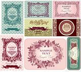 Pastels vector labels
