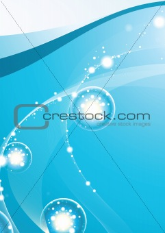 Abstract Background Light under Water vector