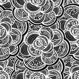 seamless monochrome floral background