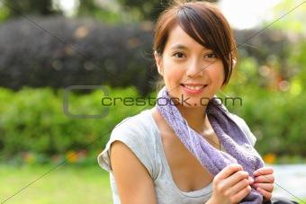 beautiful sporty asian girl