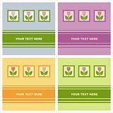 cute tulips cards