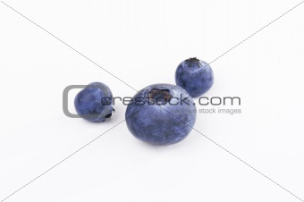 Three Blueberries