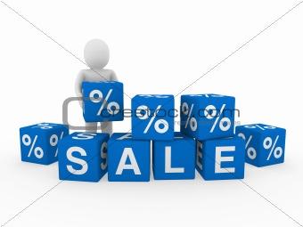 3d sale cube human