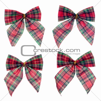 Four gift red ribbon and bow