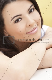 Beautiful Hispanic Woman Smiling
