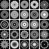 Decorative design elements. Patterns set.